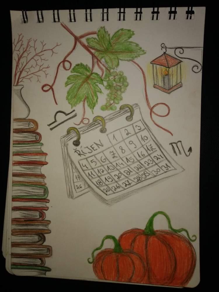 List z kalendáře – výtvarná výchova – 8. A